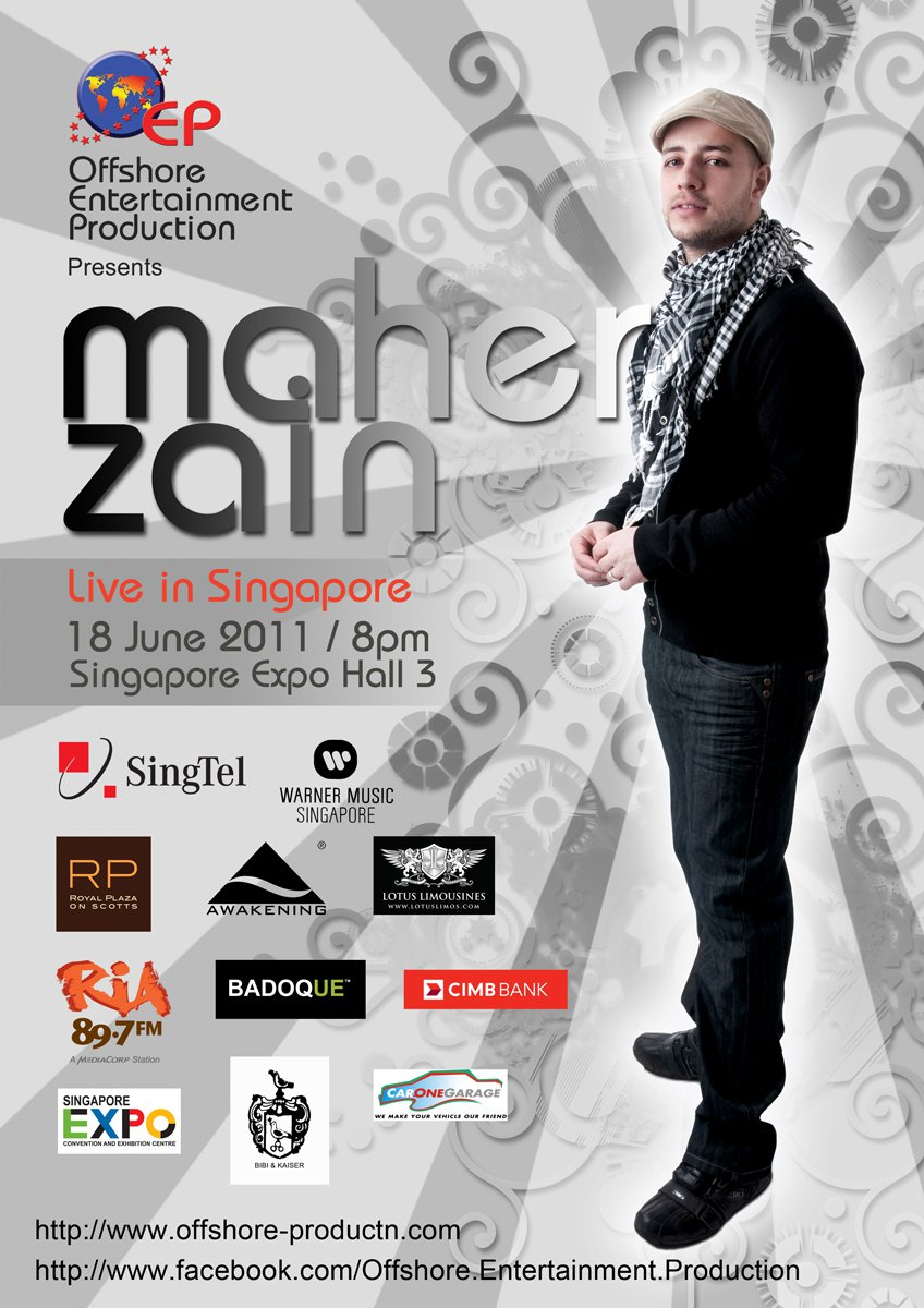 Update on Maher Zain's Concert in Singapore… – Da