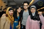 "Celebrity photographer Zaki Razali, who is also the manager of Siti Zahidah (2nd from left - of the ""Make-Up Song"" and ""Lagu Teman"" fame), being flanked by her cousin and his mother..."