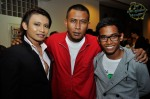 A man I respect for his showmanship, Shafyre (left). He is joined by another lyricist / song writer I have high regards for, Zaidy Nandir and the latter's son, Ruzaini...