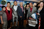 Rudy Djoharnaen (third from left) with Rufino Soliano (fourth from left) and family...