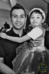 My daughter Syahindah being carried by Taufik Batisah...