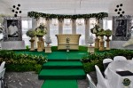 The dais was equally stunning as the previous day...