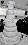 The wedding cake which was sponsored by Momentous Cakes...
