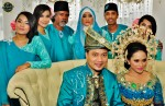 One for the album with Fiza's family members...