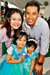 My kids did not want to miss out on having their photo taken with Hazlina and Khairudin...