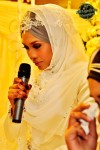 The bride surprised everyone with her emotion-filled speech that had some guests tearing as well...