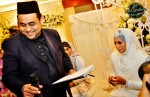 Ustaz Suhaimi Mohd Fauzi, the Imam Executive of Masjid Al-Istighfar, was the Kadi for the solemnisation ceremony...