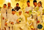 With Fiza's family members...