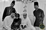 With KC's family members...
