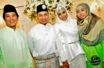 The couple with their immediate boss, Mr. Hassan Salleh and wife...