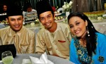 Anugerah 2011 finalist Shikin Imran, with celebrity stylist and directors / producers Azni Samdin and Nazrey Khalid...