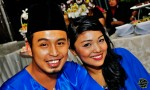 Looking blissfully in love are Rahayu Ridwan and fiance Faziz Taufiq...
