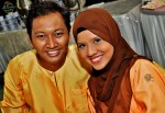 Newly-weds themselves - Ross of Revalina and wife Siti Hajar...
