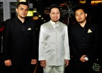The groom awaiting his cue to enter the event venue, flanked by his trusty bodyguards Shahid (left) and Fadzly...
