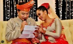 The bride had a letter specially written for her husband...