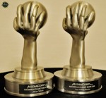 The sample trophies up for grabs...
