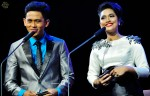 Award presenters Budi Doremi and Fiza O...