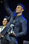 Taufik Batisah winning the award for Best Collaboration...