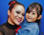 Warna 94.2FM's Zaza Majid and TG's daughter, Puteri Nur Iffah Insyirah...
