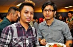 Good to see celebrity designer Raffiey Nasir and friend Fizi Azmi again...