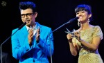 Award presenters Hady Mirza and Elfira Loy...