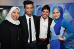 Madam Shaemah Mansor (Associate Producer, Mediacorp Eaglevision), Azni Samdin, Hafeez Glamour and Norfasarie...