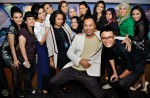 The contestants with some of the production team members as well as Fauzie Laily and Fiza O...