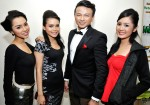 Ayura, Sheril Izzyana and Natasha Tan with Jovian Mandagie...