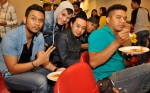 Farid Yusof of Aryan Band (second from left) photobombing with AurazBand...