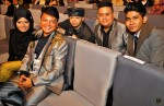 "Nominated for Best Singapore Song for their song ""Akur"" - (from left) Erma Maulood, Idi Hakim (Dinodi), 2kangkata, Dino (Dinodi) and the talented songwriter, Reyza Hamizan..."