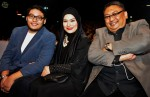 Mosyi, nominated for Best Vocal Performance in a Song (New Male Artiste), with his parents, famous 90s singer Nora Ariffin and renowned composer Johan Nawawi...