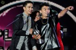 "SleeQ excited after receiving their award for Most Popular Singapore Song (""Untuk Dia"")..."