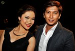 Local actor Fido Ahdross and actress / singer Ikah Jamil of local group X-Clusive...