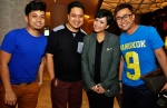 RIA 89.7FM deejays KC and Fiza O celebrated their first year wedding anniversary the day after the event. They are seen here with their wedding fashion designer Raffiey Nasir and wedding planner Rafil Kamaruddin...