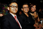 Talented director Isazaly Isa seated next to Ashmi Roslan and Syirah Jusni...