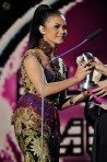 Citra Scholastika receiving her award for Best Vocal in a Song (New Female Artiste)