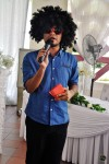 Abang J a.k.a. Dyn Norahim entertaining the guests with his antics over at the bride's place...