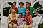 The newly-weds with Tengku Adil and his family...