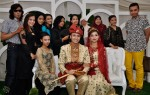 A last group shot before the newly-weds had to go off for their costume change. Amongst them was Shikin Imran (third from left) and The Final One winner, Farisha Ishak (second from right)...