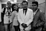 Post-show photo: Shannon Berkett, Nurfarhana M Noor, Shafii Hamzah and Reyza Hamizan, who was the guest celebrity DJ...