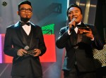 Hosts Dyn Norahim and Khairudin Samsudin...