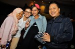 DJ KC, Fiza O with their Berita Harian counterparts Linilidia Abdul Hamid (left) and Nurmaya Alias...