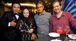 Khairudin Samsudin with veterans in the acting scene, Nurijah Sahat, Ahmad Yusof and Jasmani Basri...