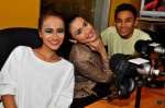 Izyan, Huda and Den Sabari at Warna 94.2FM's conty...