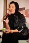 Ms. Zakiah Halim relating the esteemed judges' comments on the song submissions...