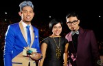 Hosts Nabil Ahmad, Sarah Sechan and Dyn Norahim...