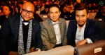 A'Trez from local group X-Clusive, Mr. Darren Choy, Managing Director of Warner Music Malaysia and Singapore and Awi Rafael...