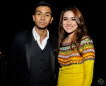 The night's biggest winner, Taufik Batisah and award presenter Hanis Zalikha...