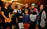 Fathin Amira Zubir and family with Aisyah Aziz and two of the dancers during Taufik Batisah's opening performance...