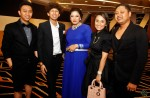 Mafarikha being flanked by Komrad and the Jauhar siblings, composer Janz Abdullah and stylist Janna Jauhar...